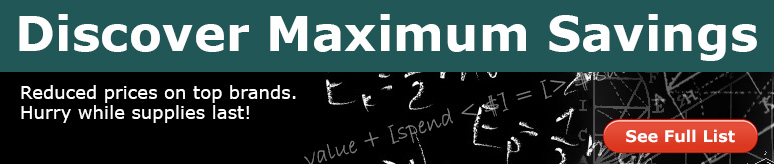Maximum savings on top brands for a limited time only