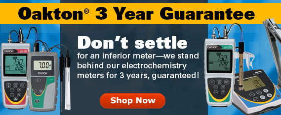 Oakton pH meters - 3 year warranty beats industry standard