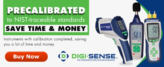 Digi-Sense Precalibrated Instruments, Precalibrated to NIST-traceable standards