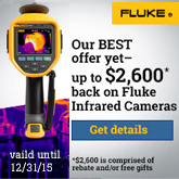 Get up to $2600 back on Fluke infrared cameras for a limited time
