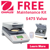 FREE Maintenance Kit with purchase of a MB45 Moisture Analyzer. For a limited time only.