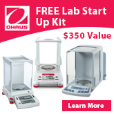 FREE Ohaus Lab Start Up Kit with your purchase of Discovery®, Explorer® or Adventurer® balance. For a limited time only.