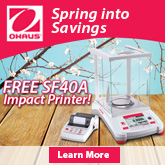 Spring into Savings. Win Free OHAUS Products with Every Adventurer® Purchase. For a limited time only.