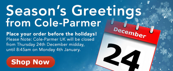 Seasons Greetings from Cole-Parmer- Place your order by 24th of December, 2015