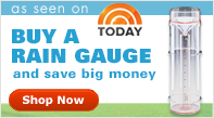 Cole-Parmer Clear Rain Gauges as seen on the Today Show.